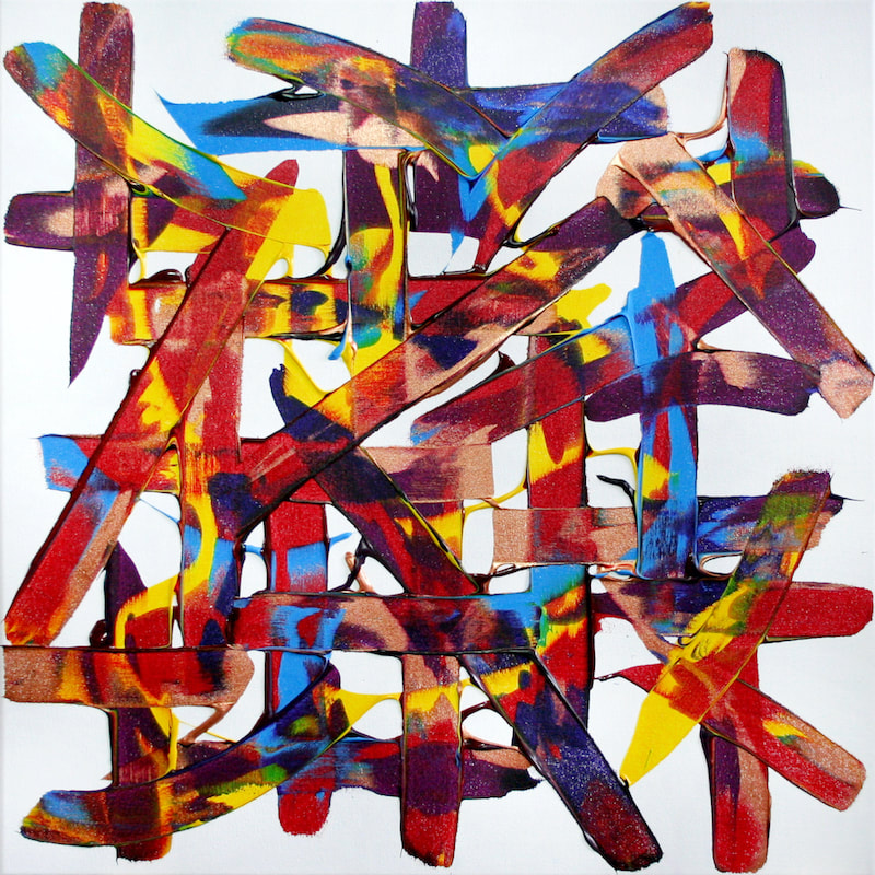 Always, after Bon Jovi. Colourful abstract expressive synaesthesia painting by Ali Barker.